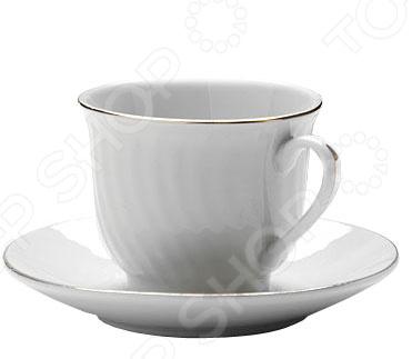 Кофейный набор Loraine LR-25611Чайные и кофейные наборы<br>Набор кофейный Loraine LR-25611 отличается своим изысканным дизайном, прочностью и функциональностью. Несмотря на свою внешнюю хрупкость, каждый из предметов набор облает высокой прочностью и надежностью. Аккуратные чашечки и блюдца выполнены из высококачественной керамики - материала безопасного для здоровья и надолго сохраняющего тепло напитка. Элегантный, классический дизайн с золотым декором делают этот кофейный набор прекрасным украшением любого стола. Набор аккуратно упакован в подарочную упаковку, поэтому его можно преподнести в качестве оригинального и практичного подарка для своих родных и самых близких.<br>