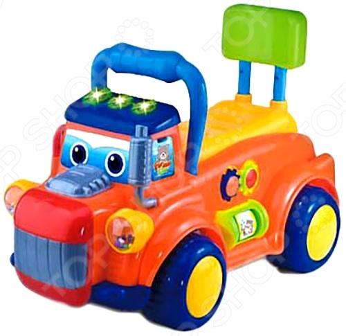 Машина-каталка со звуком Shantou Gepai «Веселый грузовик»