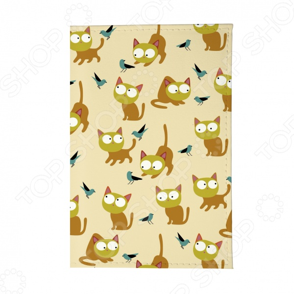 Обложка для автодокументов Mitya Veselkov «Рыжие кошки» для кошки