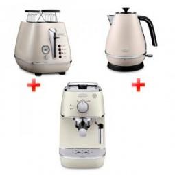 фото Набор приборов для завтрака DeLonghi ECI 341, KBI2001, CTI2103. Цвет: белый