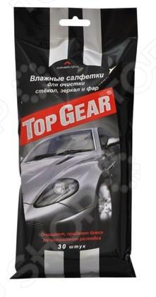 Набор салфеток влажных очищающих для стекол, фар и зеркал Авангард TG-48038 Top Gear