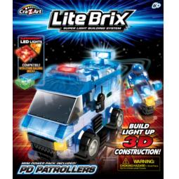 фото Конструктор игровой со световыми эффектами Lite Brix «Полицейский фургон»