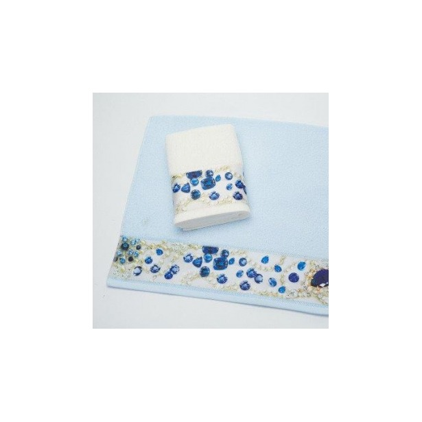 фото Полотенце махровое Романтика Сияние сапфиров. Размер: 50х90 см. Цвет: светло-голубой