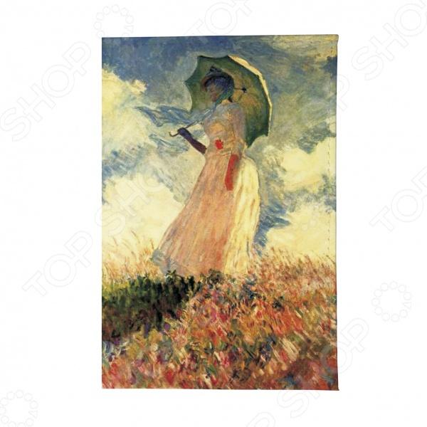 Обложка для автодокументов Mitya Veselkov «Клод Моне. Дама с зонтиком» картина из кожи дама с зонтиком моне коллекция elole interior синий сплошн холст прямоуг рама