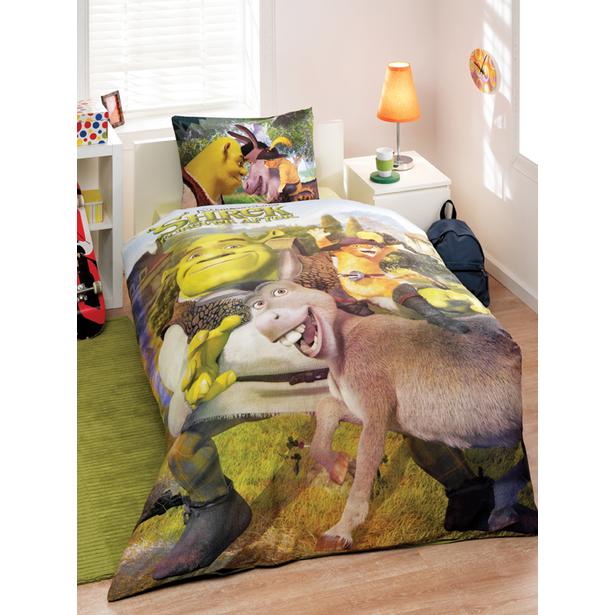 фото Комплект постельного белья Tac Shrek Go Green. Детский