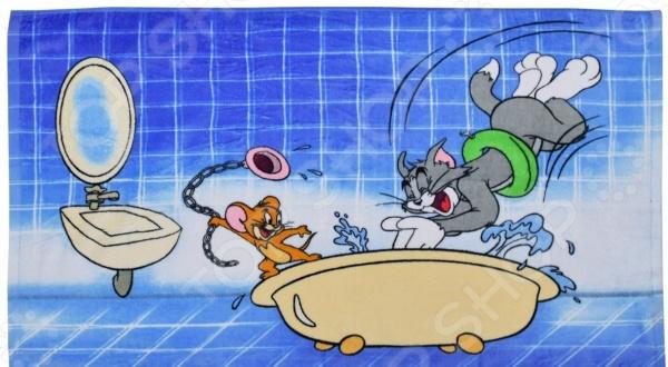 Полотенце махровое Мульткарнавал «Том и Джерри в ванной» полотенце для ванной two tone grafik quelle quelle 239974