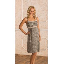 Купить Сорочка для беременных Nuova Vita 102.7. Цвет: коричневый