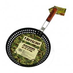 Купить Жаровня для морепродуктов и овощей с антипригарным покрытием BOYSCOUT со складной ручкой