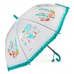 фото Зонтик детский Mary Poppins «Модница». Цвет: бирюзовый
