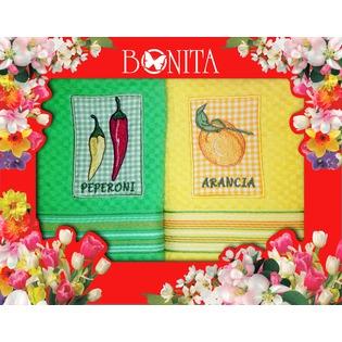 Купить Комплект из 2-х махровых полотенец подарочный BONITA «Солнечный». В ассортименте