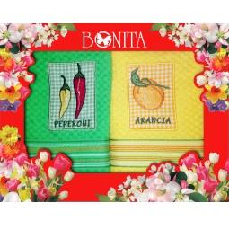 фото Комплект из 2-х махровых полотенец подарочный BONITA «Солнечный». В ассортименте