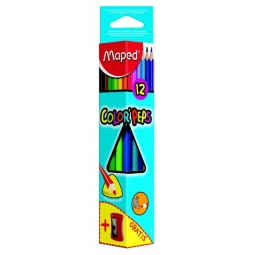 фото Набор цветных треугольных карандашей с точилкой Maped 183213