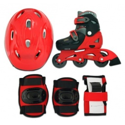 фото Роликовые коньки с комплектом защиты и шлемом X-MATCH 64484