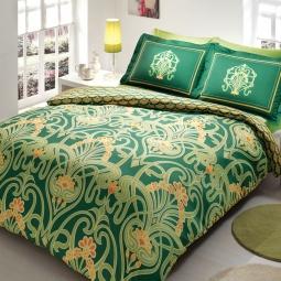 фото Комплект постельного белья TAC Torium. 1,5-спальный. Цвет: зеленый