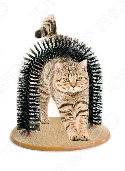Когтеточка со щеткой «Кошачье удовольствие» TD 0301