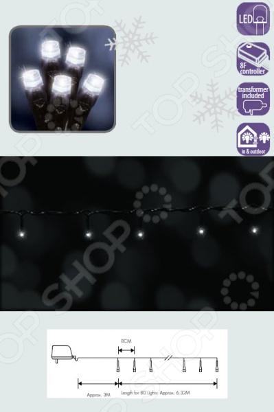 Не за горами Новый Год, а значит близится пора чудес и волшебства! Настает замечательное время время сказки и аромата хвои с мандаринами. Несомненно, каждый дом, каждый уголок будет украшен огоньками, гирляндами и удивительными новогодними украшениями. Гирлянда электрическая Luca Lighting 1694698 это гирлянда низкого напряжения, рассчитанная на 24 В. Длина шнура до лампочек составляет 3 м, а длина самой гирлянды это дополнительные 6,32 метра. Расстояние между лампочками 8 см. Высокая степень защиты оболочки провода IP44 позволит использовать эту модель не только внутри жилых помещений, но и на открытом воздухе. Верьте в чудеса!  Наряжая елку украшениями, попадаешь словно в другой мир. Блестки, яркие огоньки, все это создает особое праздничное настроение и заставляет поверить во что-то неповторимое и сказочное. Особые характеристики товара:  Неповторимый и стильный дизайн.  Многофункциональность в использовании.  Качественный материал.