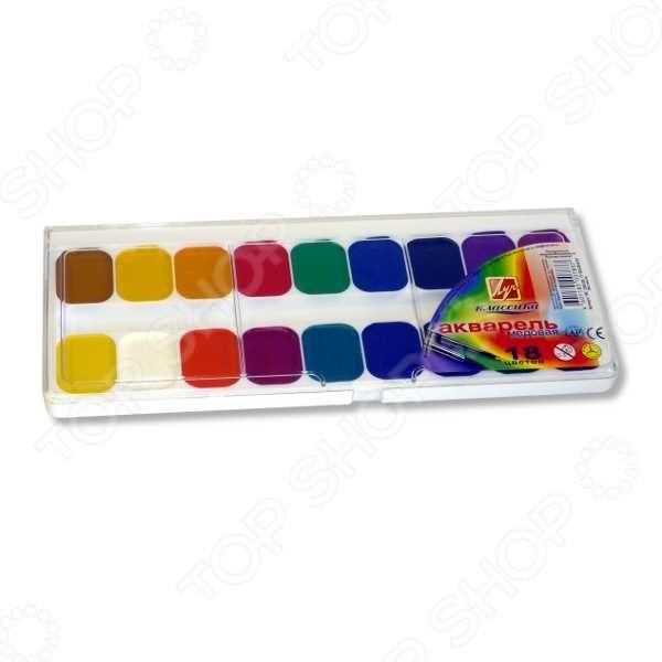 Не секрет, что рисование является для детей одним из самых любимых и увлекательных занятий. Оно, в полной мере, раскрывает творческий потенциал и способствует развитию у малышей фантазии и воображения. Помимо этого, рисуя или разукрашивая, ребенок учится правильно сочетать цвета, запоминает их названия и основные оттенки. Акварель медовая Луч Классика станет отличным приобретением для юного художника. Палетка красок состоит из 18-ти, наиболее часто используемых цветов: черного, синего, зеленого, красного, желтого, розового, белого и т.д. Акварель является водорастворимой краской и содержит в своем составе органические пигменты. В качестве связующего вещества используется натуральный пчелиный мед. Среди основных преимуществ медовой акварели можно отметить яркий насыщенный цвет красок и устойчивость к выгоранию под действием прямых солнечных лучей. Товар прошел строгую сертификацию и соответствует всем европейским нормам безопасности, применяемым к данному типу продукции знак СЕ .