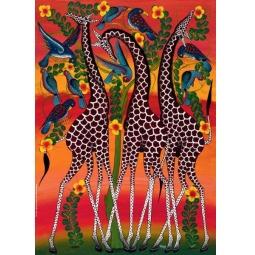 Купить Пазл 1000 элементов Heye «Жирафы»