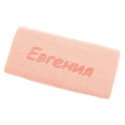 фото Полотенце подарочное с вышивкой TAC Евгения. Цвет: персиковый