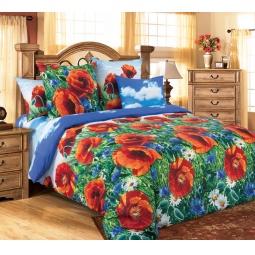 фото Комплект постельного белья Королевское Искушение «Маковый цвет». Семейный