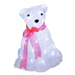 фото Фигурка с подсветкой Star Trading «Медвежонок с бантом» 583-36