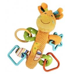 фото Игрушка-погремушка Жирафики «Жирафик с пищалкой»