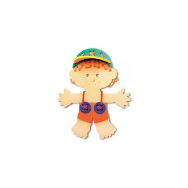 фото Игра развивающая для малыша Флексика «Шнуровка. Мальчик»