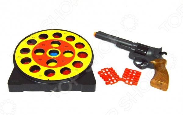 Пистолет с мишенями и пульками Edison Giocattoli Champions-Line Target Game