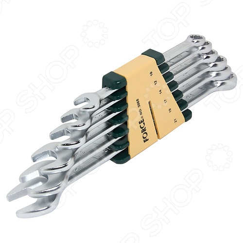 Набор ключей комбинированных Force F-5068  force 5121 набор комбинированных ключей 8 23 мм