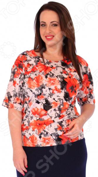 Туника СВМ-ПРИНТ «Николет»Туники<br>Туника СВМ-ПРИНТ Николет это великолепная вещь, которая создана с учетом всех особенностей женской фигуры. В этой тунике вы будете чувствовать себя тепло и комфортно как на работе, так и на любой вечеринке. Тунику можно носить не только с брюками, но и с юбками, ведь цвет универсален. Мягкая и приятная к телу ткань, вырез горловины очень изящный, а оригинальные короткие рукава подчеркивают вашу красоту. Округлый воротник придает изделию дополнительную изюминку. Туника имеет идеальную длину до середины бедра, что помогает подчеркнуть женственность вашей фигуры. Швы обработаны текстурированными, эластичными нитями, благодаря чему швы тянутся и не натирают. Сшита туника из мягкого материала 92 вискоза, 8 полиэстер , вставка полностью состоит из полиэстера. Ткань хорошо пропускает воздух и является антистатической, не скатывается при стирке и ношении. Полиэстер поможет сохранить вещь в отличном состоянии, даже после многих стирок ткань не вытянется и не полиняет.<br>