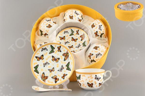 Чайный набор с ложками Elan Gallery «Бабочки» набор эм 124 4ап2 бабочки п 1148051