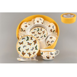 Купить Чайный набор с ложками Elan Gallery «Бабочки»