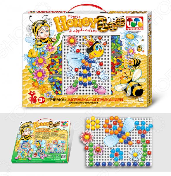 Мозаика с аппликацией Toys Union «Пчела»Мозаика<br>Мозаика с аппликацией Toys Union Пчела станет чудесным подарком для любознательного малыша. Такие игры очень интересны и познавательны для детей, они способствуют развитию воображения, образного мышления, мелкой моторики рук и восприятия форм и цветов. В комплект входит прямоугольная плата, 90 цветных фишек диаметр 15 мм и бумажные аппликации. Элементы мозаики изготовлены из высококачественных, прошедших строгий контроль качества, материалов. Рекомендовано для детей в возрасте от 3-х лет.<br>