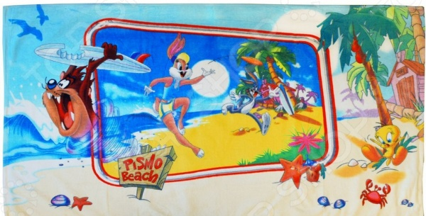 Zakazat.ru: Полотенце махровое Мульткарнавал «Таз и Лола на Гавайях»
