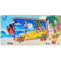 фото Полотенце махровое Мульткарнавал «Таз и Лола на Гавайях»