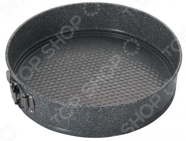 Форма для выпечки разъемная Regent Easy 93-CS-EA-25-06Металлические формы для выпечки и запекания<br>Форма для выпечки разъемная Regent Easy 93-CS-EA-25-06 станет отличным дополнением к набору аксессуаров и принадлежностей для кухни. Модель выполнена из углеродистой стали и снабжена двусторонним антипригарным покрытием Granite Coating. Данное покрытие отличается высокой прочностью и долговечностью, повторяет структуру камня и выдерживает температуры до 250 градусов. Кроме того, оно не требует использования большого количества масла и отлично сохраняет насыщенный вкус, аромат и сочность продуктов.<br>