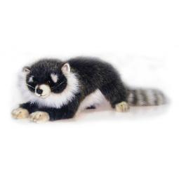 фото Мягкая игрушка для ребенка Hansa «Енотик лежащий»