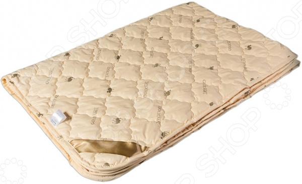 Одеяло облегченное Dream Time «Верблюжья шерсть»Одеяла<br>Одеяло облегченное Dream Time Верблюжья шерсть с наполнителем из волокон верблюжьей шерсти, которая ценится за легкость и отличную терморегуляцию. Этот материал создает микроклимат без парникового эффекта даже в при больших перепадах температур. Лучше всего подойдет людям с обильным потовыделением во время сна. Минимальное влагопоглощение дает возможность быстро высушить одеяло. Еще одно преимущество легкость. Верблюжья шерсть в 2 раза легче овечьей. С легкостью восстанавливает форму после сминания благодаря волоскам с эффектом памяти. В составе шерсти имеется натуральный компонент оказывает благоприятное воздействие на кожу. Рекомендуется людям склонным к ревматическим болям, невралгиям, заболеваниям позвоночника, внутримышечным болям. Особенности:  Термореуляция;  Антистатичность;  Гиппоаллергенность;  Легкость;  Лечебный эффект.<br>
