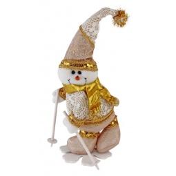 фото Игрушка новогодняя Новогодняя сказка «Снеговик на снежинке» 93993