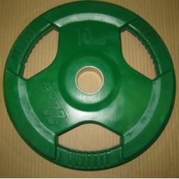 фото Диск обрезиненный Alex RCP D 51. Вес в кг: 10 кг. Цвет: зеленый