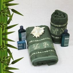 фото Полотенце махровое Mariposa Tropics d.green. Размер полотенца: 50х90 см