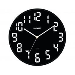 фото Часы настенные Scarlett SC-55BL