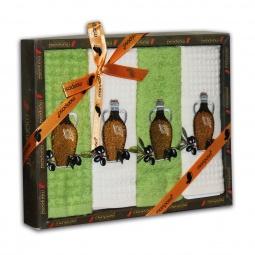 фото Комплект из 4-х кухонных полотенец Mariposa Olive