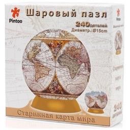 Купить Пазл шаровой Pintoo «Старинная карта мира» 64515