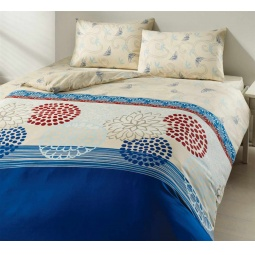 фото Комплект постельного белья TAC Emma. 2-спальный. Цвет: голубой