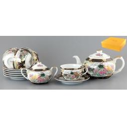 Купить Чайный набор с чайником Elan Gallery «Павлин на золоте»