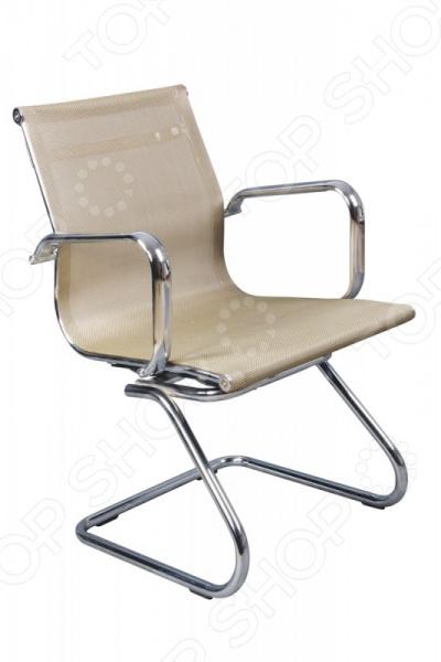 Кресло с низкой спинкой на полозьях Бюрократ CH-993-Low-V/Gold