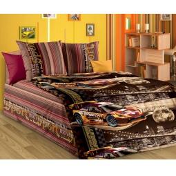 фото Детский комплект постельного белья Бамбино «Неон». Цвет: коричневый