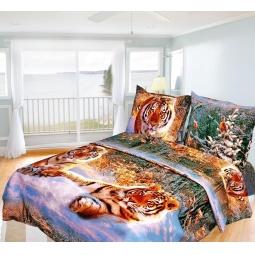 Купить Комплект постельного белья Олеся «Тигры». 2-спальный