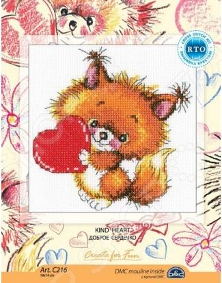 Набор для вышивания RTO «Доброе сердечко» C216